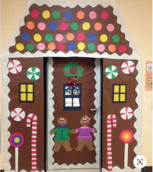 Gingerbread Classroom Door