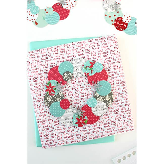 Paper Wreath Card