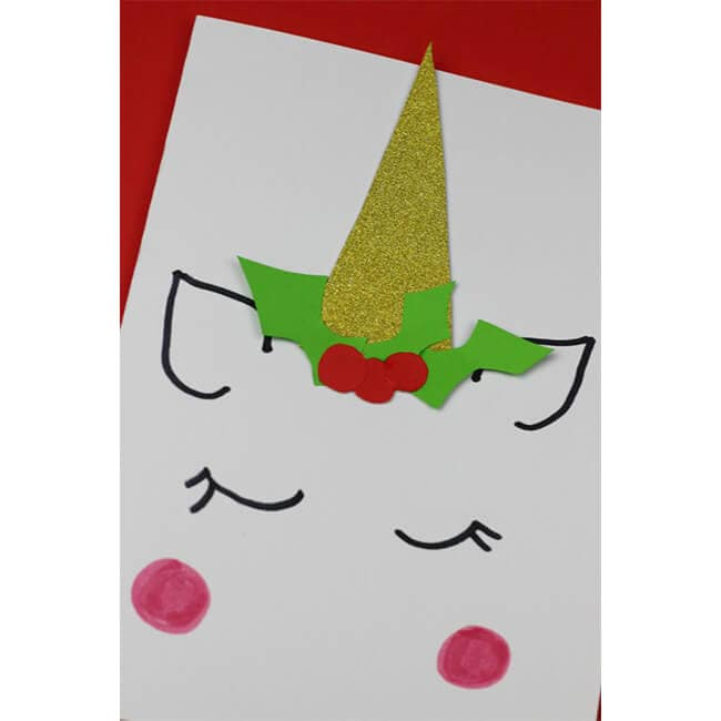 Unicorn Christmas Card