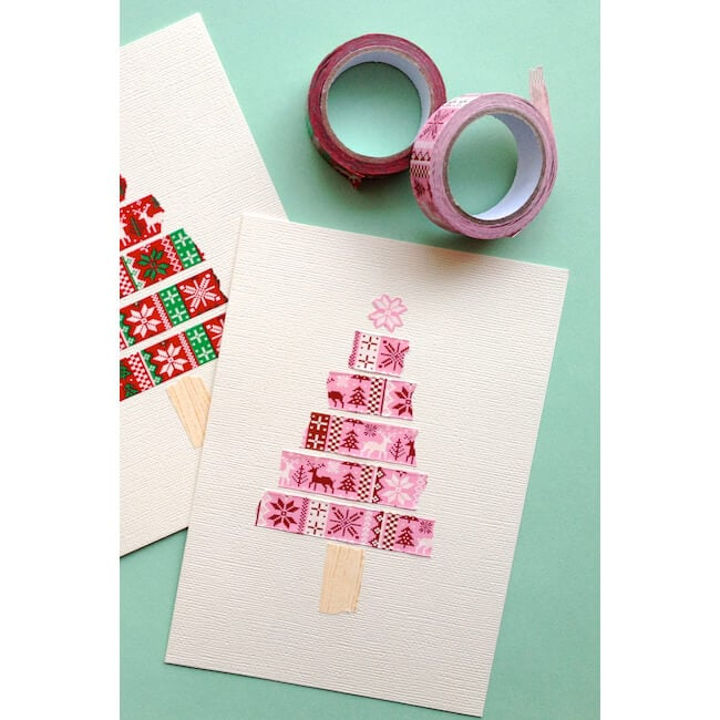 Washi Tape Tree Card