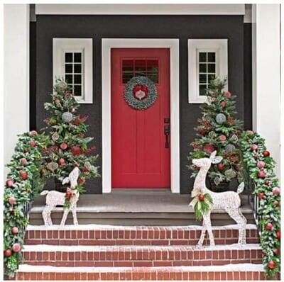 Christmas Porch Railing Decorations