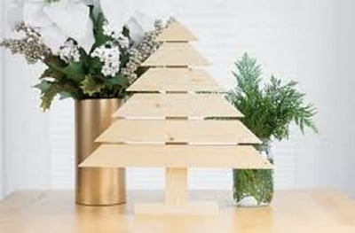 office wooden christmas tree