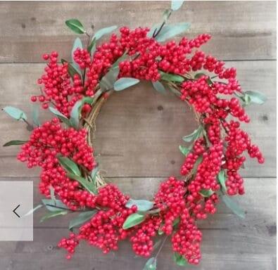 Mixed Berry Tree Wreath