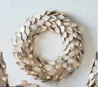 Lit Birch Wreath