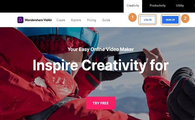 create vidair account