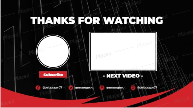 youtube end screen template - 1