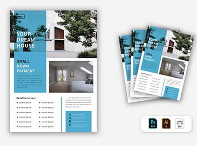 minimalistic real estate flyer