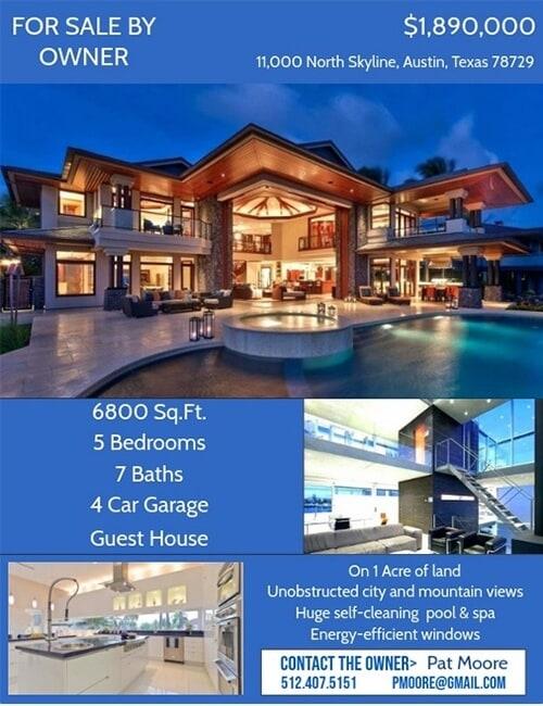 luxury real estate flyer