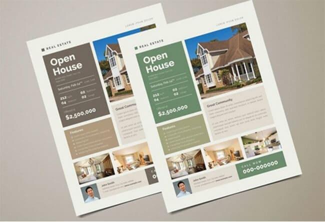 clean real estate flyer
