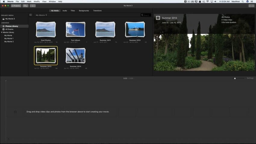 imovie slideshow 3