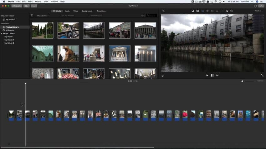 imovie slideshow 4