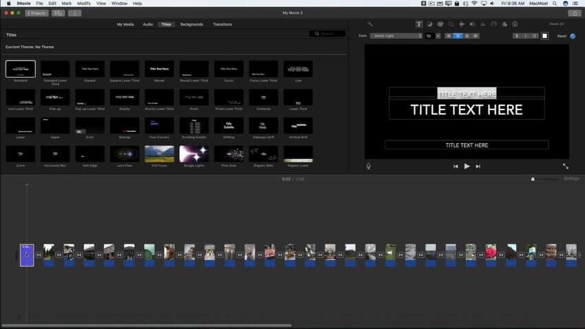 imovie slideshow 7