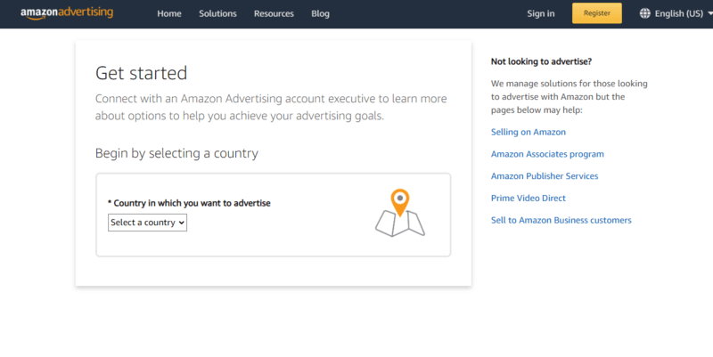 Get started with Amazon advertising