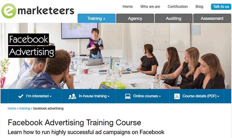 Facebook Advertising Training Course (Emarketeers)
