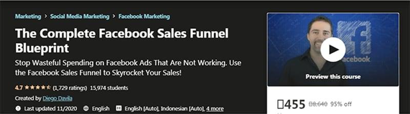 Complete Facebook Sales Funnel Blueprint (Udemy)