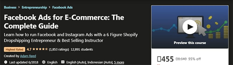 Facebook Ads for E-Commerce: The Complete Guide (Udemy)