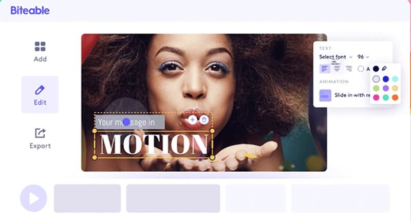Biteablefree video ad-maker