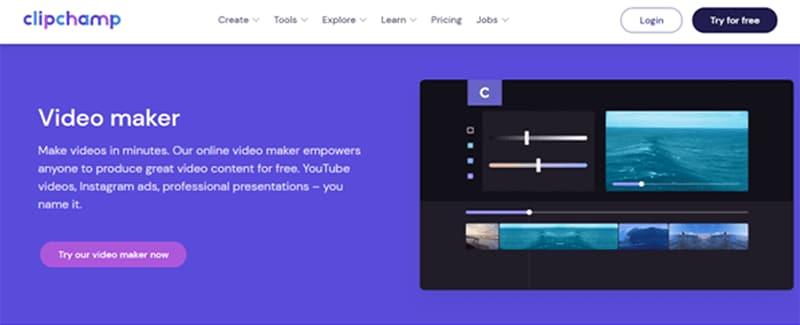 Clipchamp Createfree video ad-maker