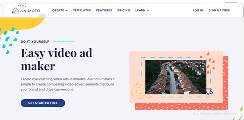 Animotofree video ad-maker