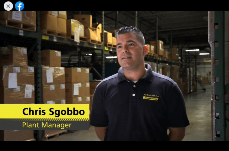 Employee review video