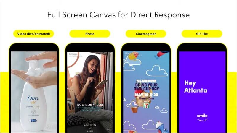 Snapchat video ad