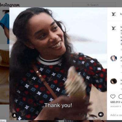 Louis Vuitton vertical video