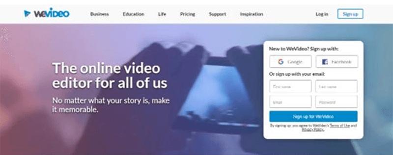 WeVideo best video ad maker app