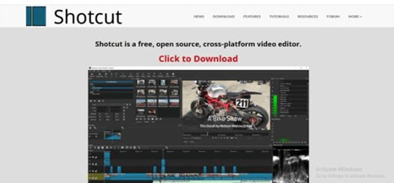 Shotcut video ad maker