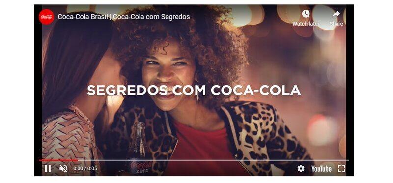 Coca-Cola bumper video ad