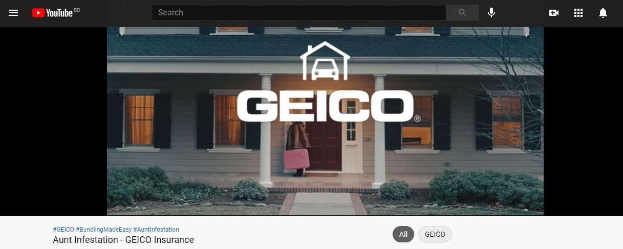 aunt infestation - geico insurance ad