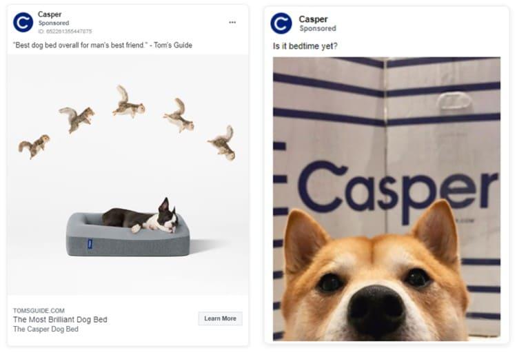 casper remarketing ad