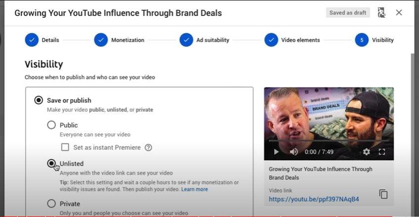 edit ad visibility