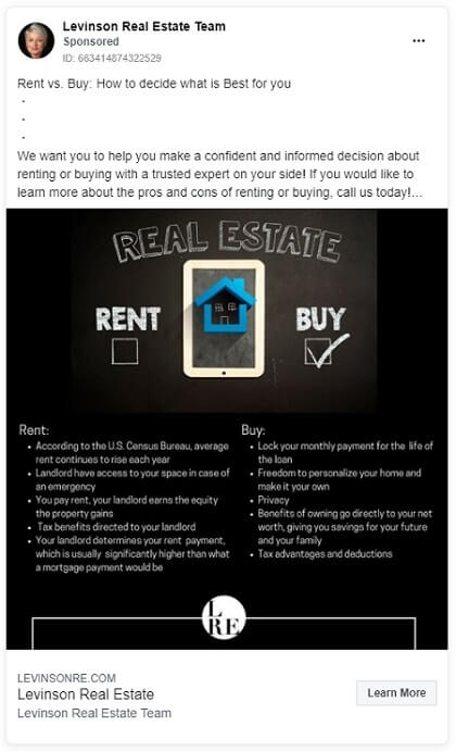 Tips for Real Estate Facebook Marketing - Change the style