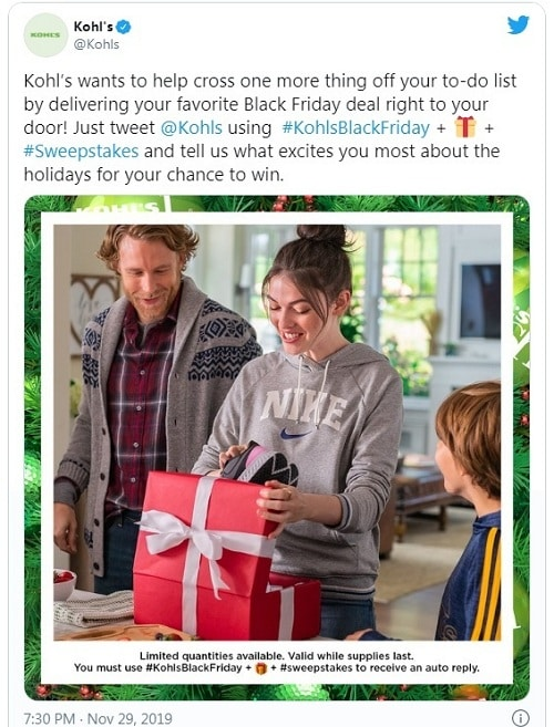 kohl's twitter ad campaign