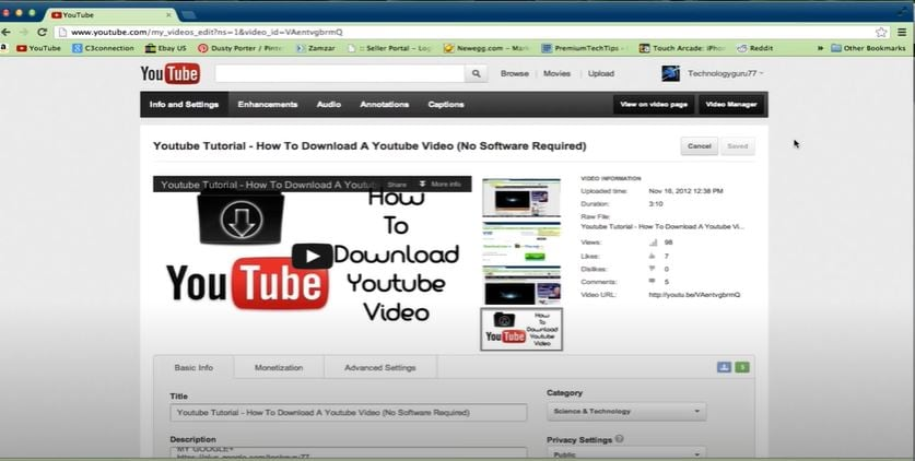 log in to your youtube account