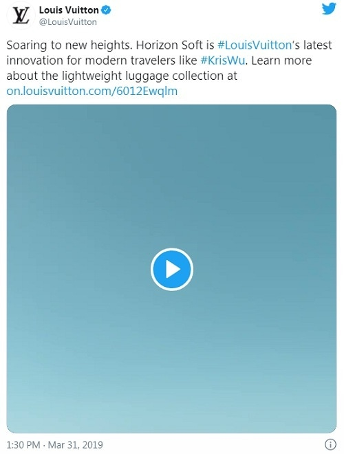 Louis Vuitton twitter ad