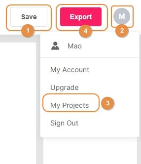 save or export creation