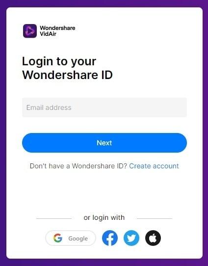VidAir log in