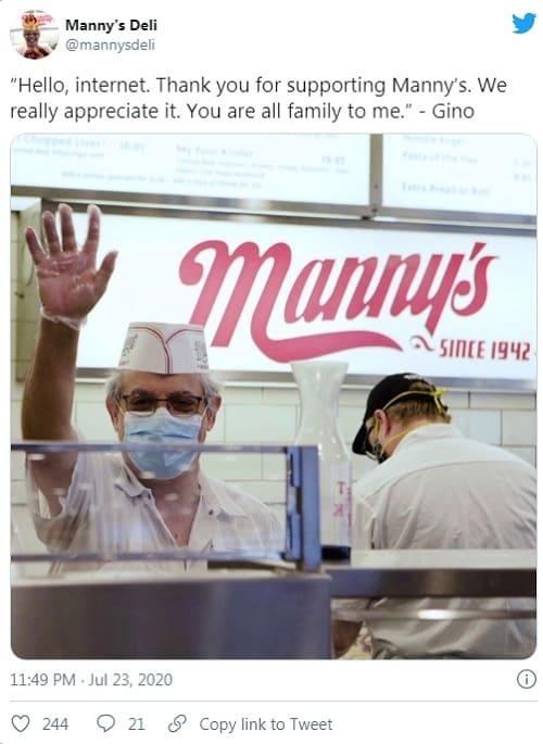 mannysdeli twitter ad campaign