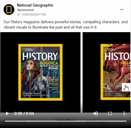 national geographic carousel ad