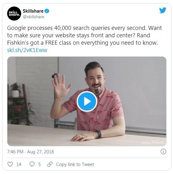 Skillshare twitter ad