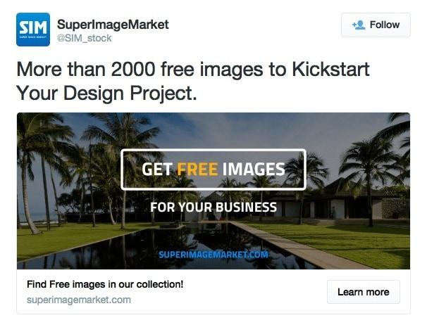 super image market twitter ad