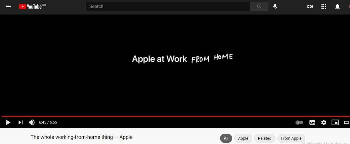 the whole working-from-home thing — apple
