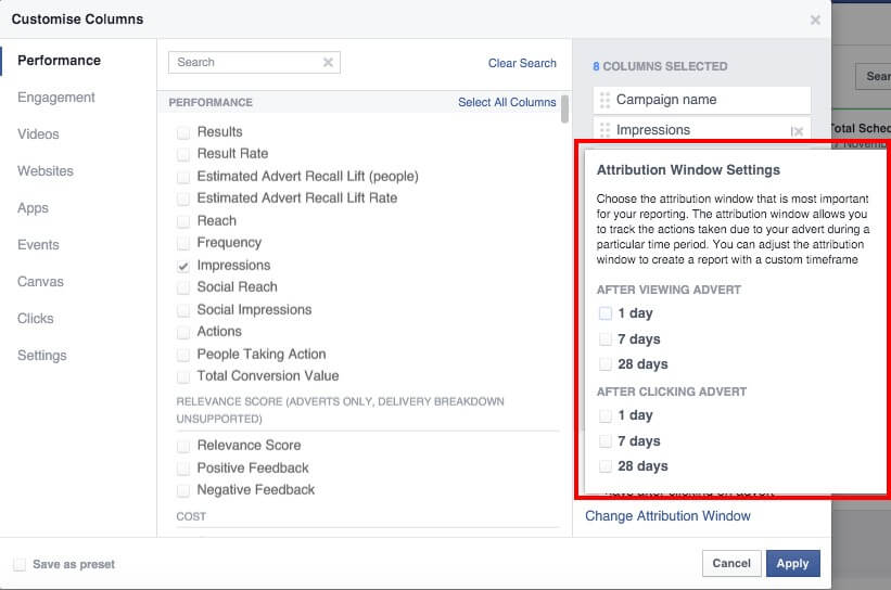 Making Facebook Paid Ads - Attribution Models