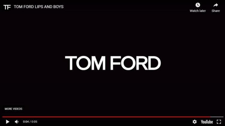 tom ford youtube bumper ad