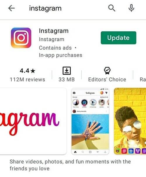 Update the Instagram app