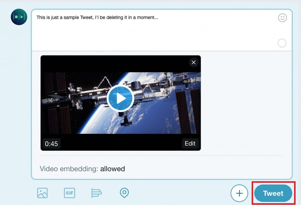 video upload to twitter