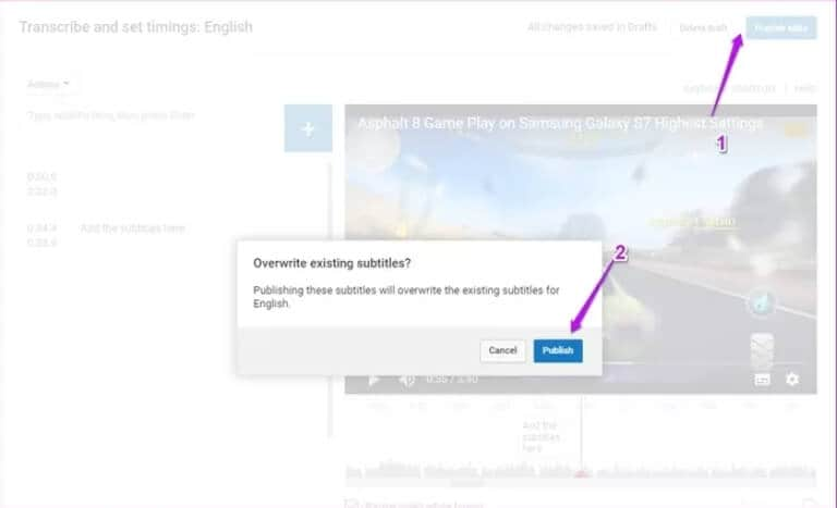 add text to youtube video after uploading step 4