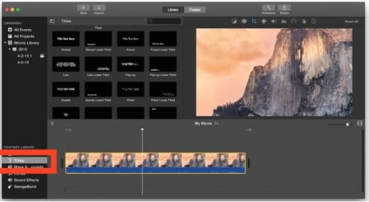 imovie add text to video