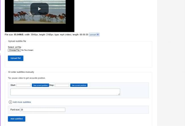 add text to video online - ezgif